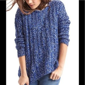 GAP loose knit chunky marled sweater NWOT